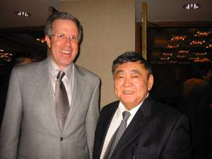 U.S. District Court Judge Robert Takasugi and Attorney Carl Shusterman