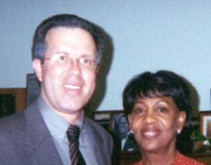 Congresswoman Maxine Waters Consults With Carl Shusterman